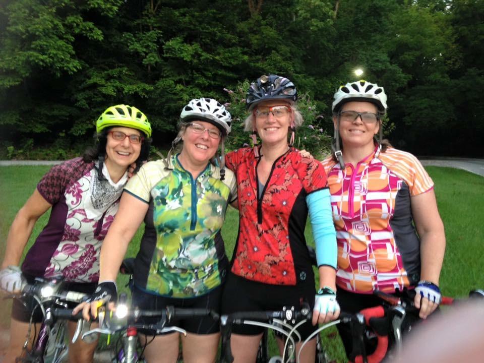 Women wearing SassyCyclist jerseys