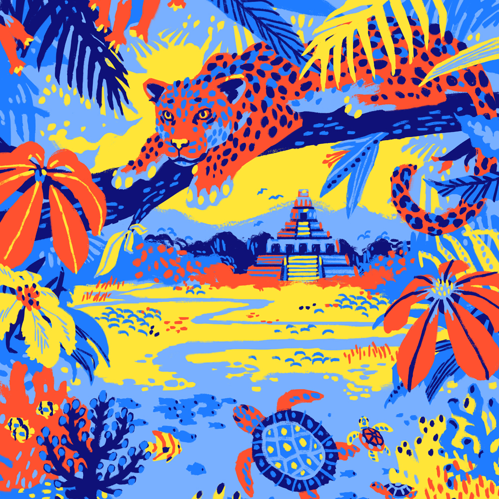 Jonny Ruzzo - Belize Poster Illustration D1 1000SQ.jpg