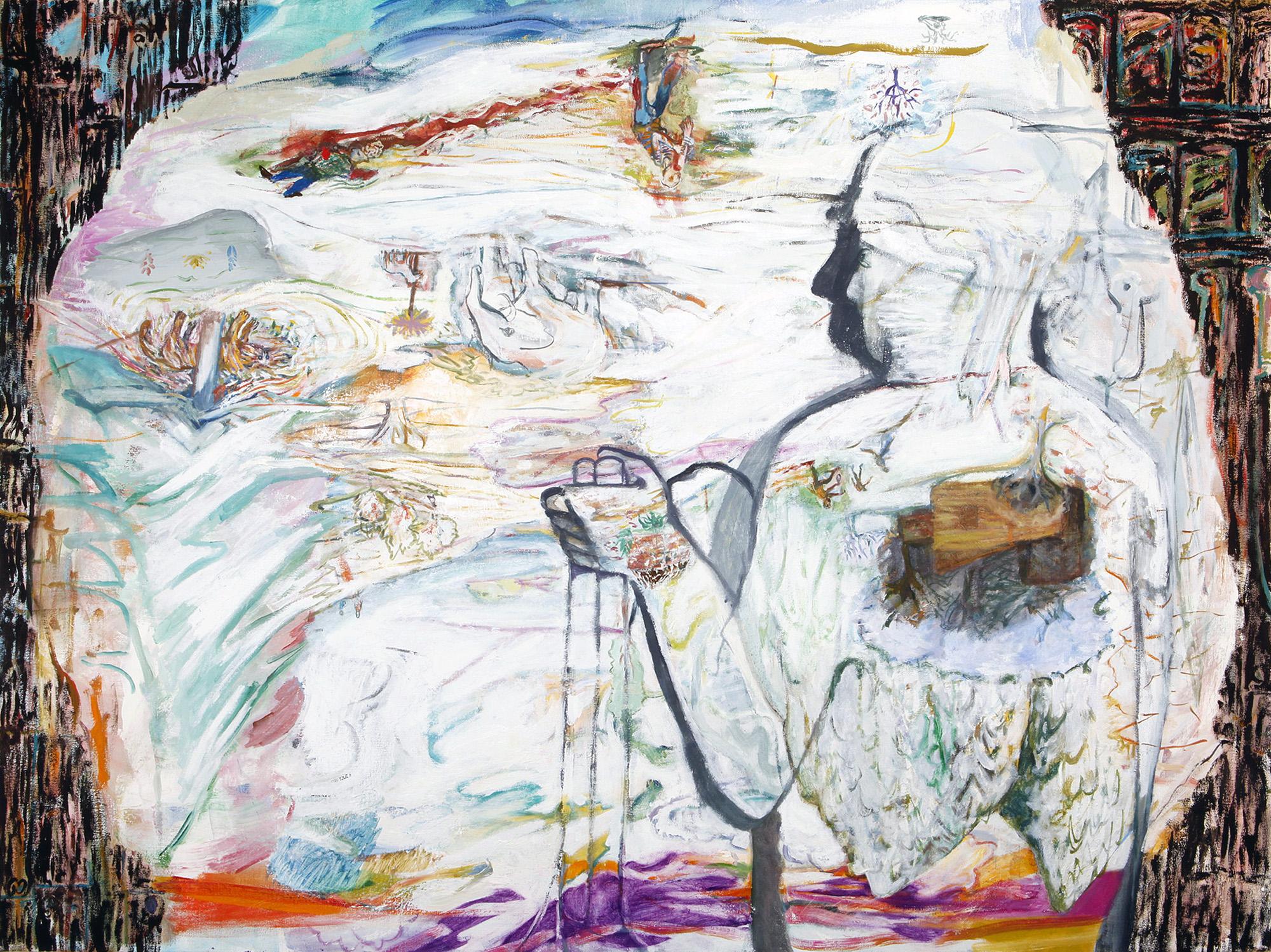 "Camera Obscura Bunker, 2013, oil on canvas, 36"" x 48"""