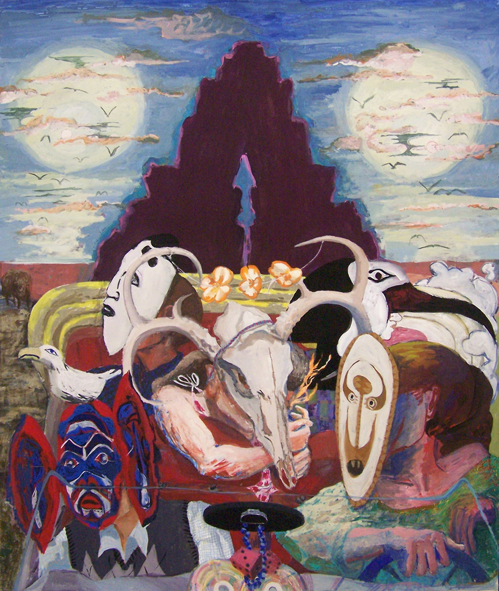"Joyride , 2011. Gouache on paper, 37"" x 32"""