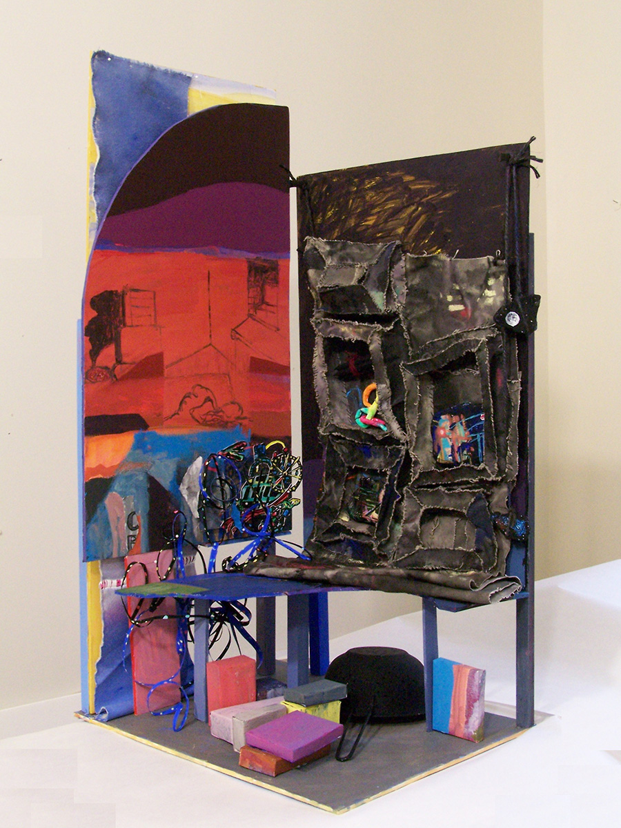 Seven Nights in the City , 2010. Painted Assemblage.