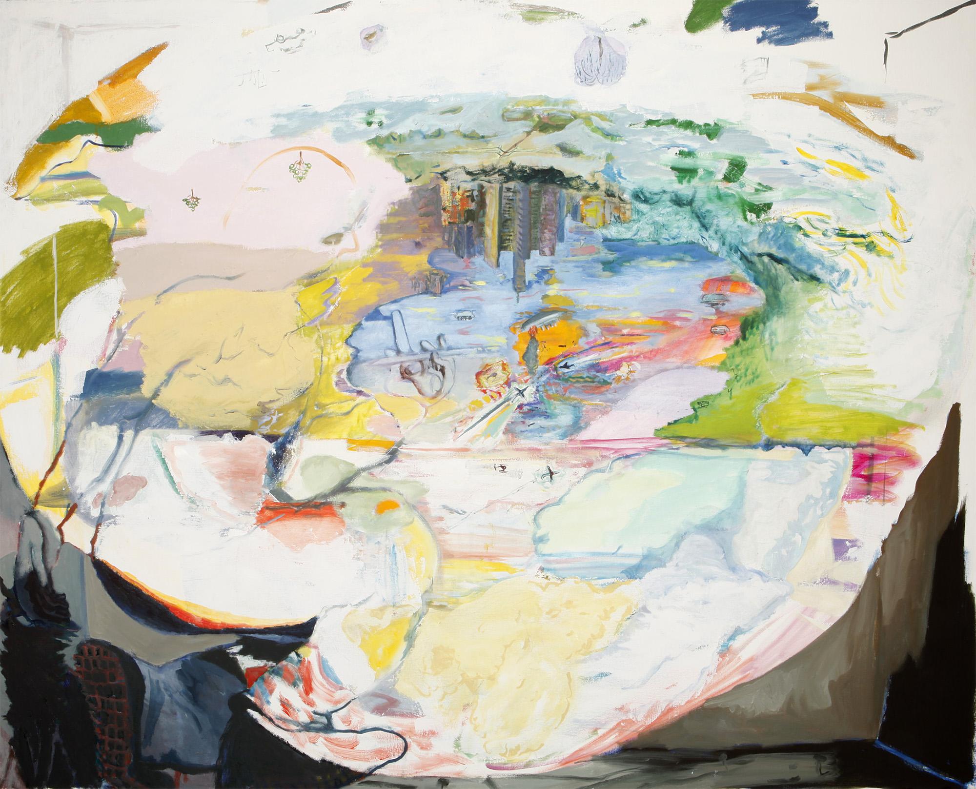 "Camera Obscura Bunker (2) , 2013. Oil on canvas, 48"" x 60""."