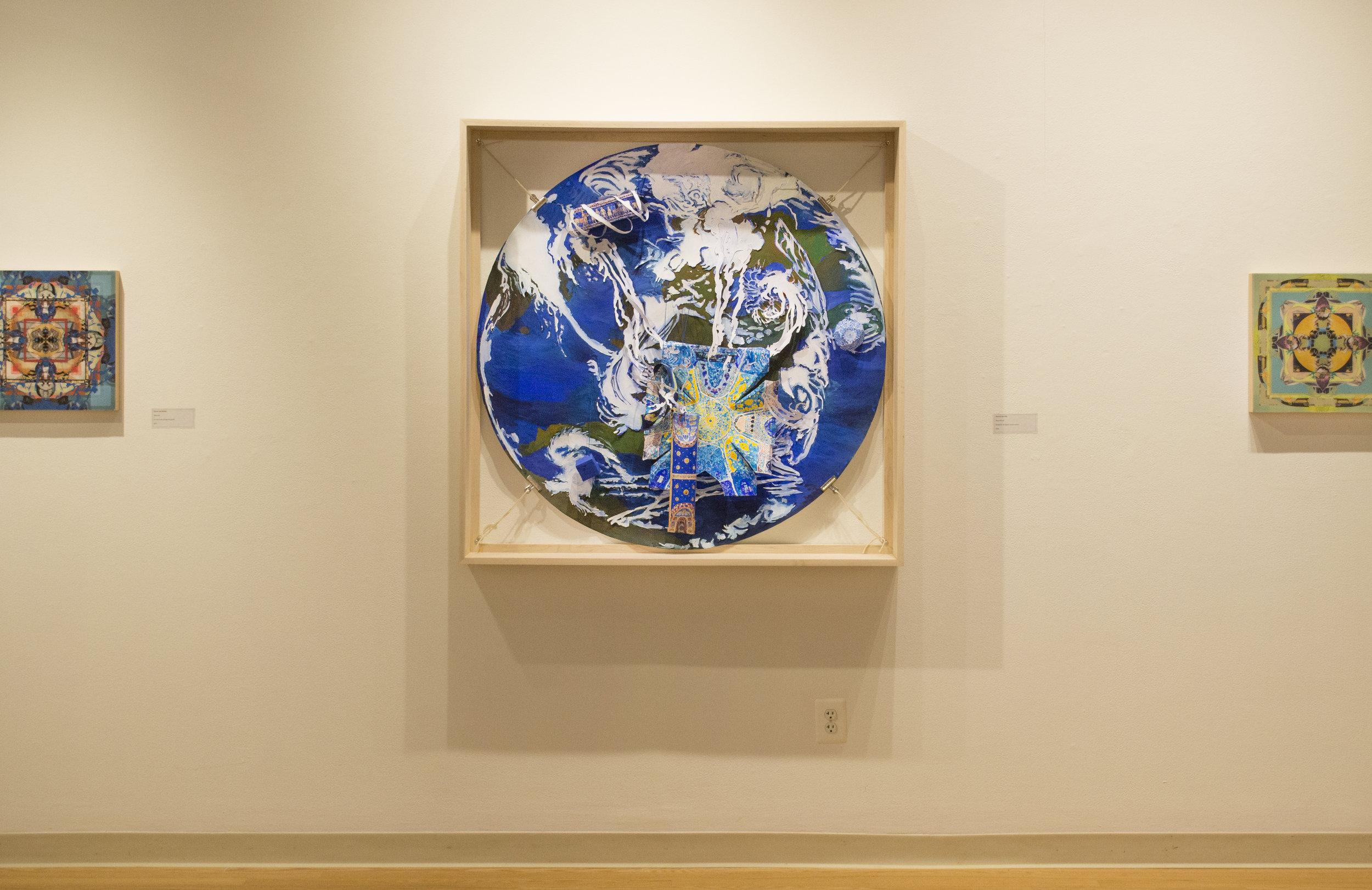 Installation shot with Sylvie van Helden, from Temporal Embodiments at Julio Gallery, Loyola University