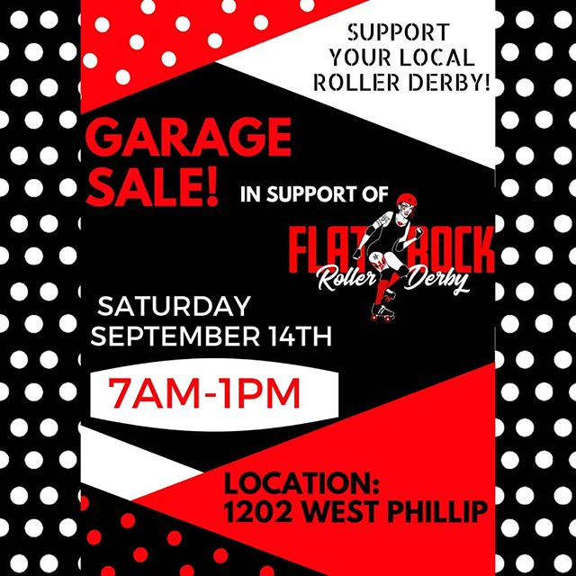 Come out to our team garage sale Saturday the 14th from 7am to 1pm! Located at 1202 West Phillip. Find second-hand treasures and help support local roller derby!!!