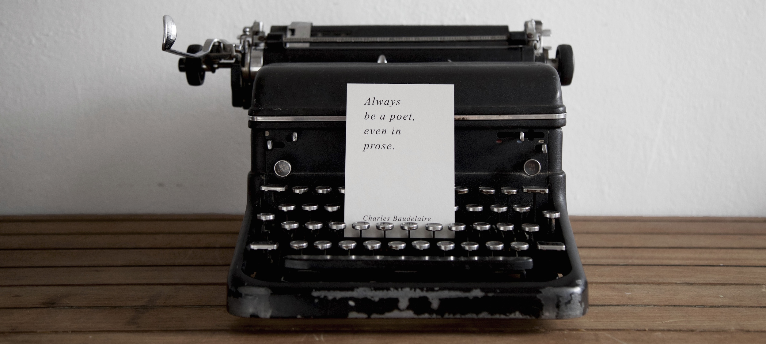 Typewriter Quote