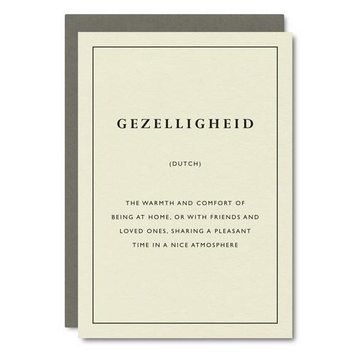 Gezelligheid (Dutch)    Card - CW16