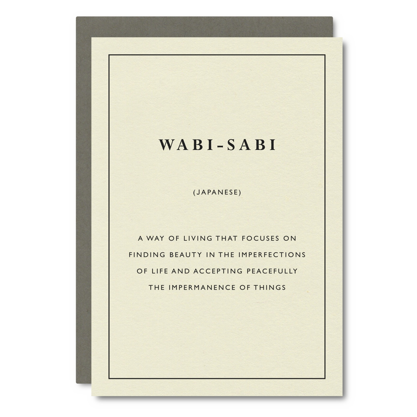 Wabi-Sabi (Japanese)    Card - CW14
