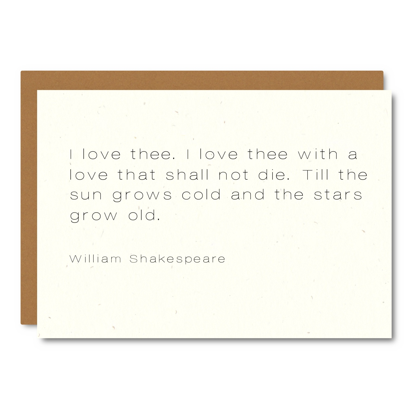 Shakespeare (Love) Quote    Card -  WL24