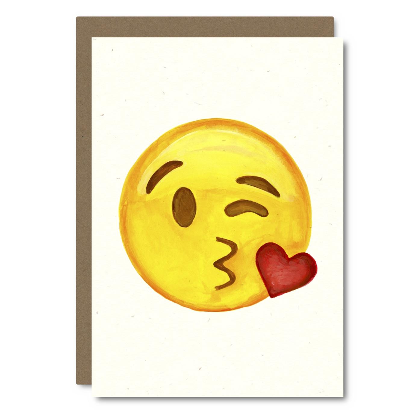 Emoji - Kisses    Card - EM02