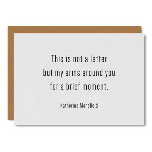 Mansfield (Letter) Quote    Card - WL53