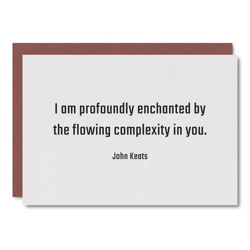 Keats Quote    Card - WL51