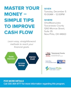 Flyer for Financial Literacy Workshop. Read article for more details.