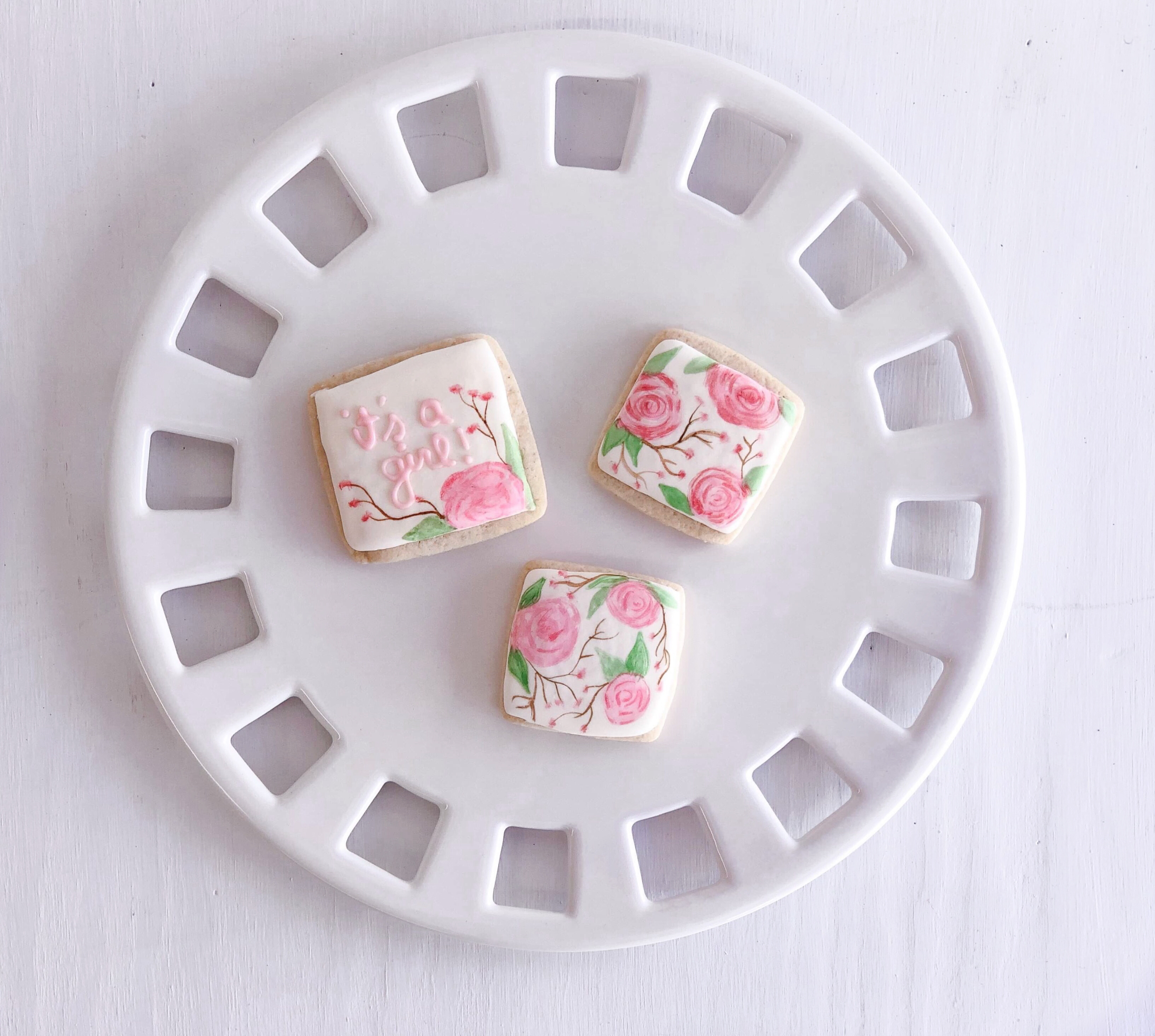 Floral Handpainted Sugar Cookies