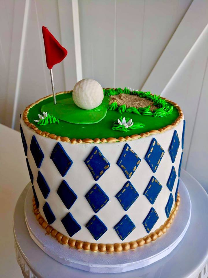 Golf Themed Fondant Cake