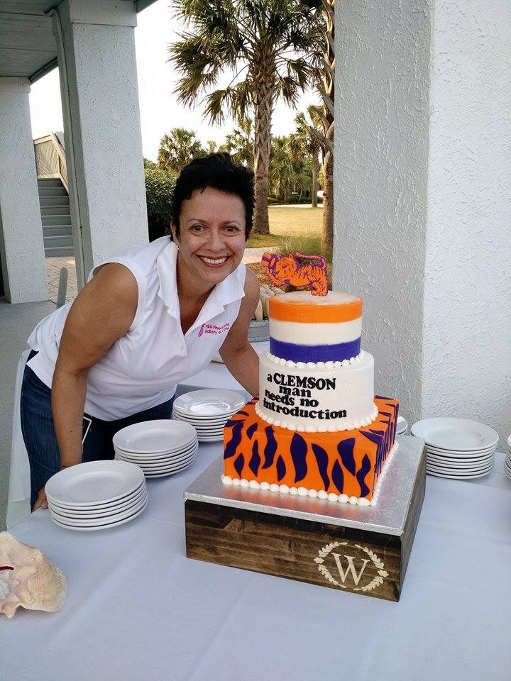 A Clemson Man Themed Cake