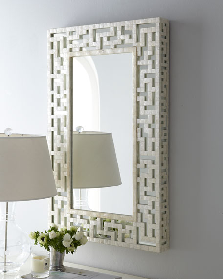 One of my favorite finds of the room. This mirror is surprisingly affordable! Isn't it gorgeous! What a statement it will make!!!!