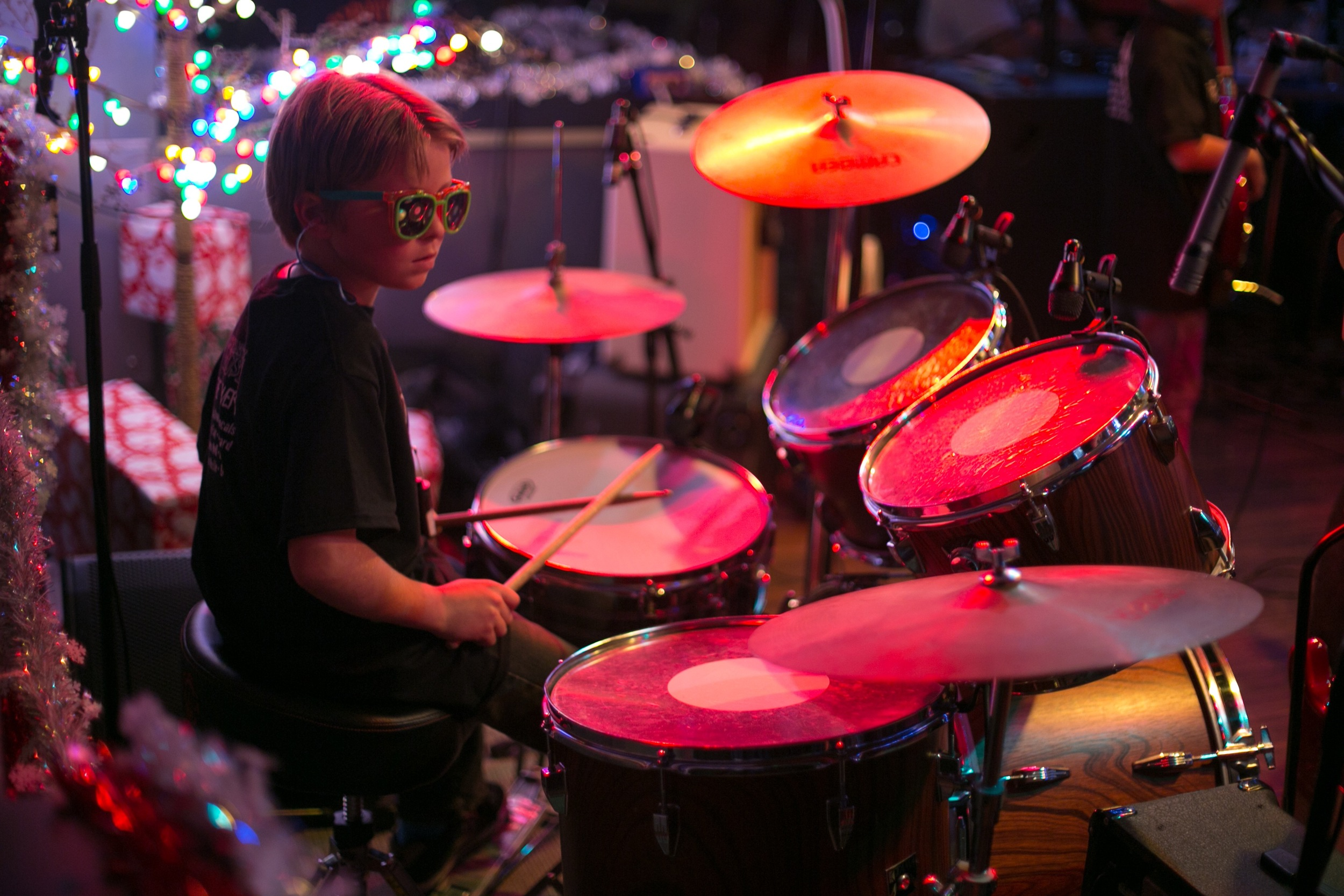 Jaxson, drummer for The Twerps
