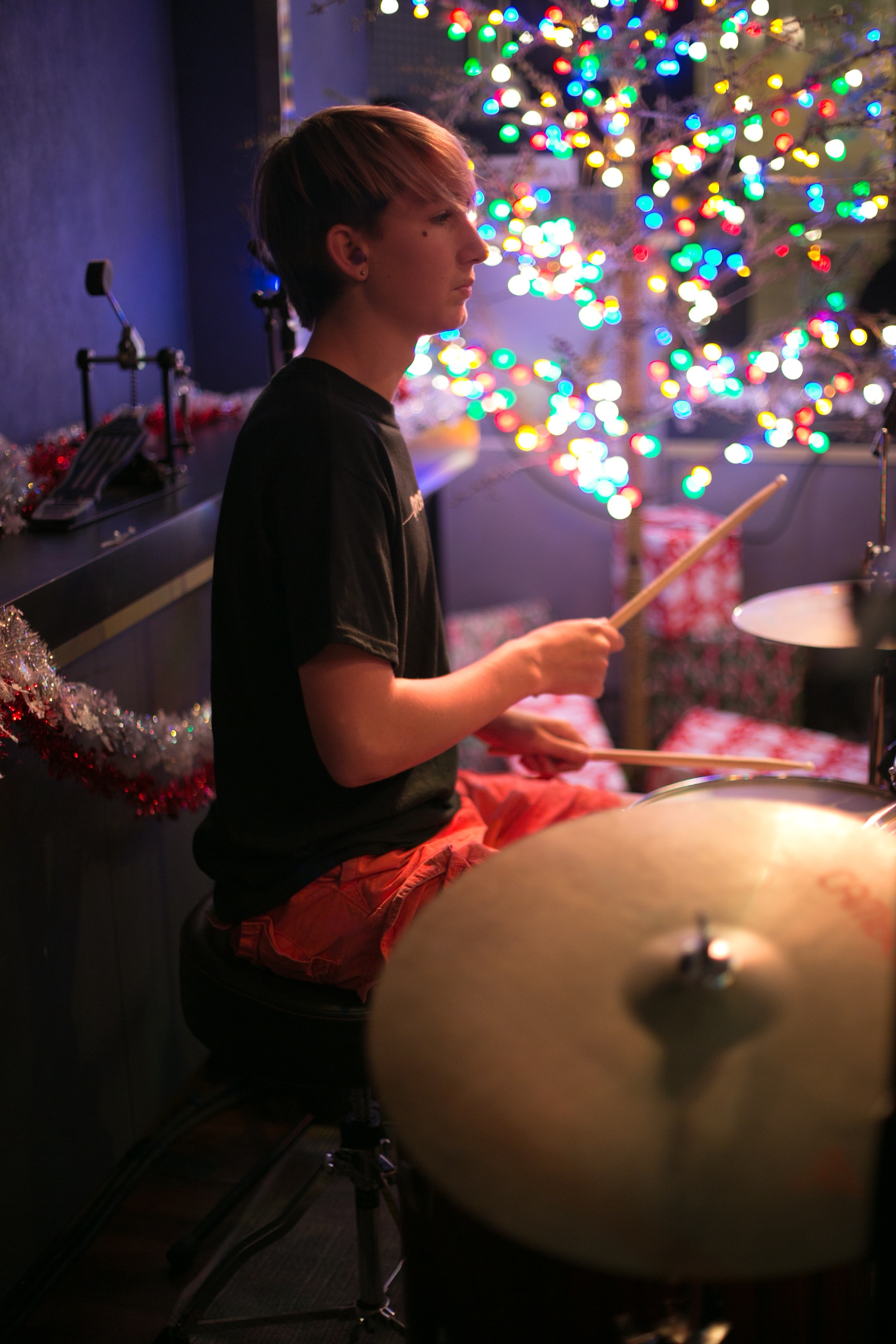 Liam on drums @ Boardwalk Bowl