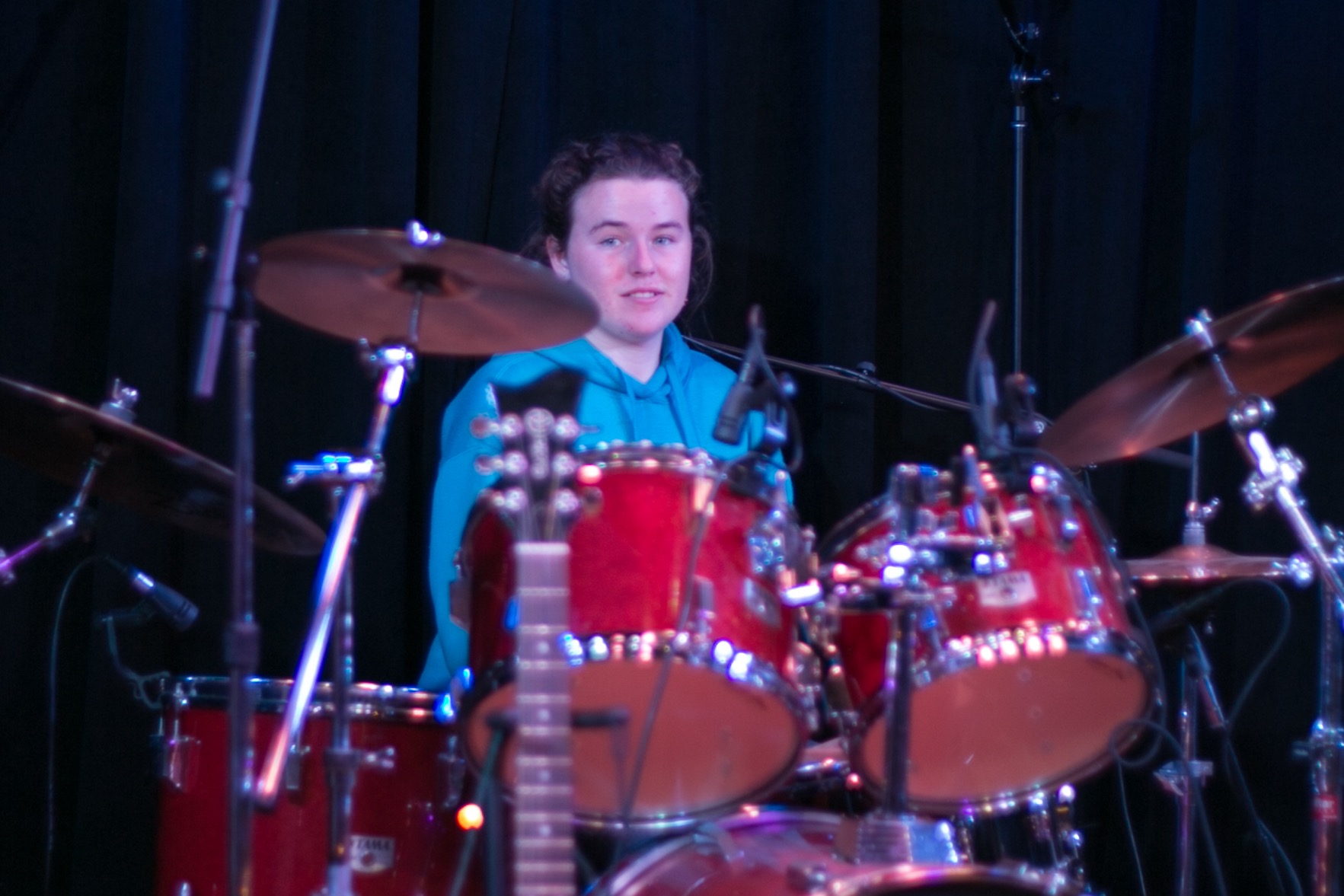 Malena on drums 12.6.15