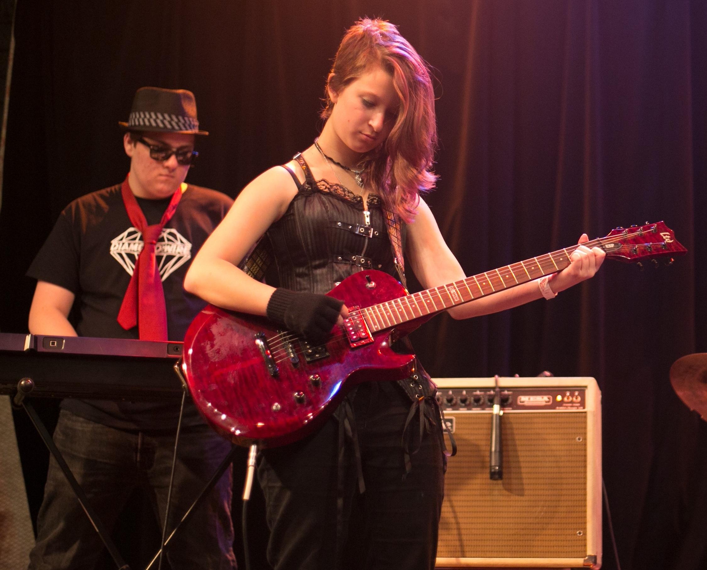 Amaya on guitar & Liam on keys 10.24.16