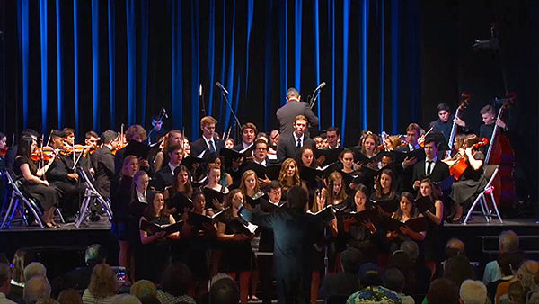 The Georgetown University Chapel Choir and the Chamber Singers will perform with the internationally renowned National Youth Orchestra of Uruguay in celebration of the pope's U.S. visit.