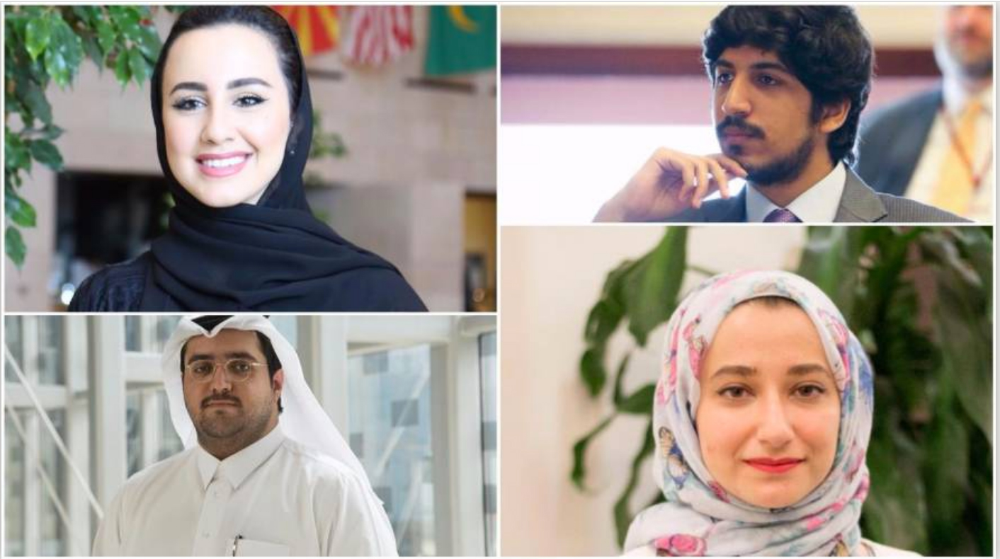 Photo Collage of Seniors at Georgetown's School of Foreign Service-Qatar