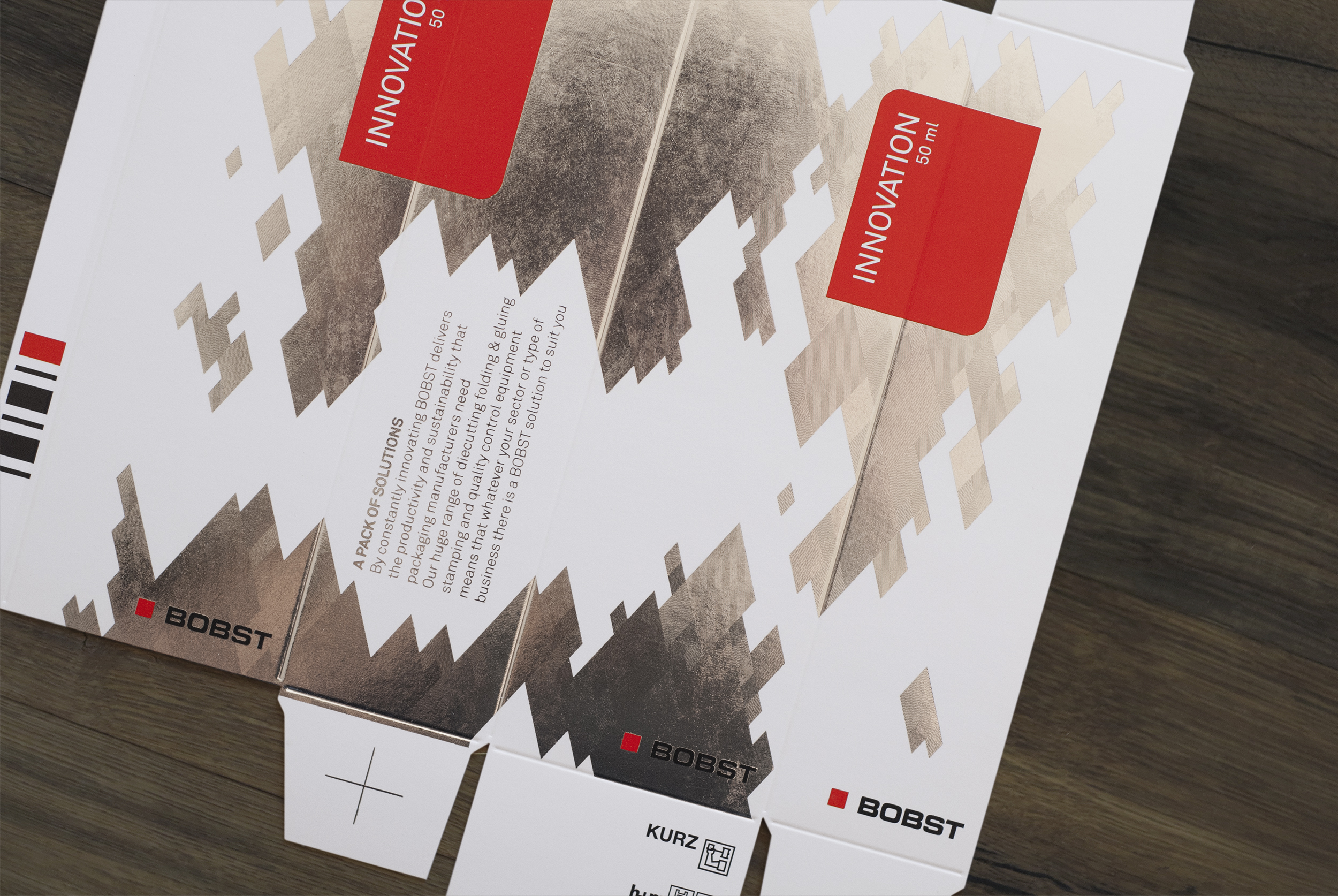 BOBST | Packaging for DRUPA Art direction | Production © essencedesign
