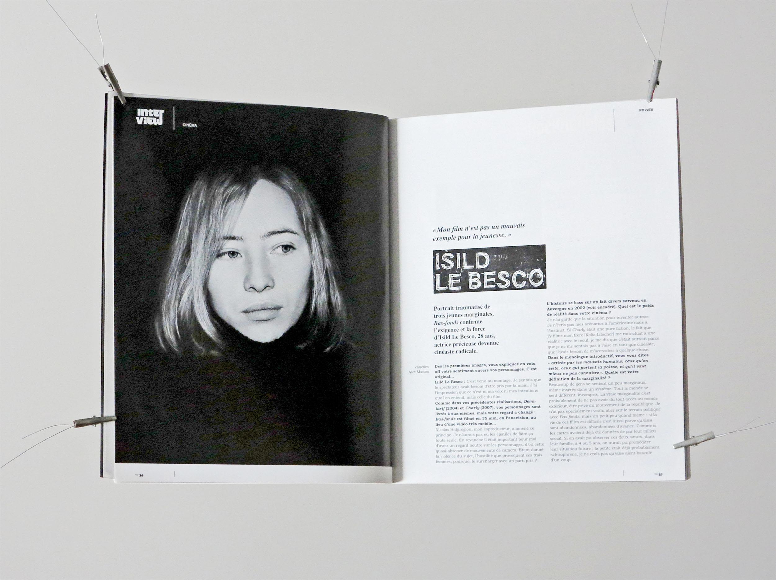 Lettering for Standard Magazine © fannyducommun
