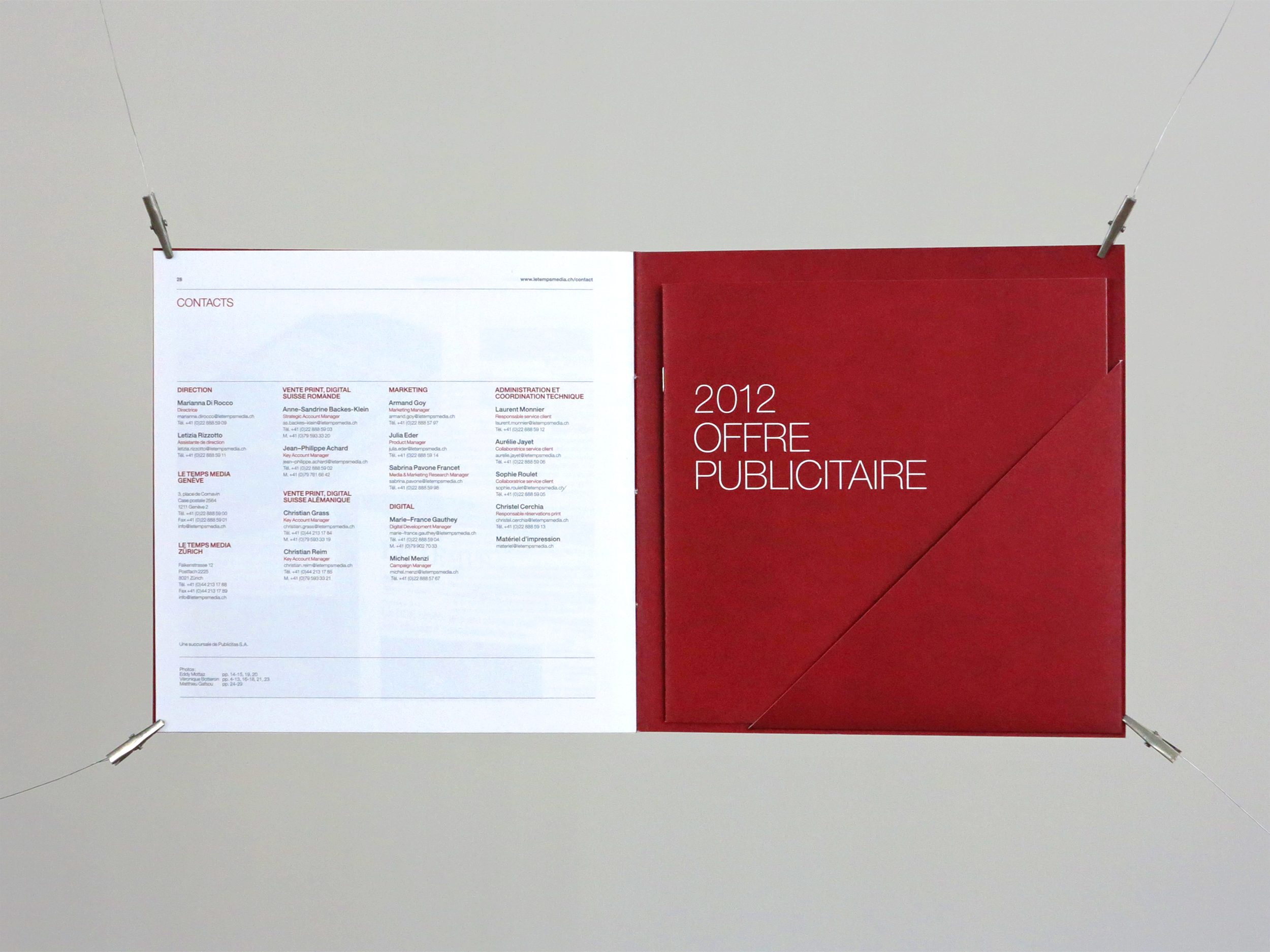 Le Temps | Rates brochure 2012 Art direction | Production © essencedesign
