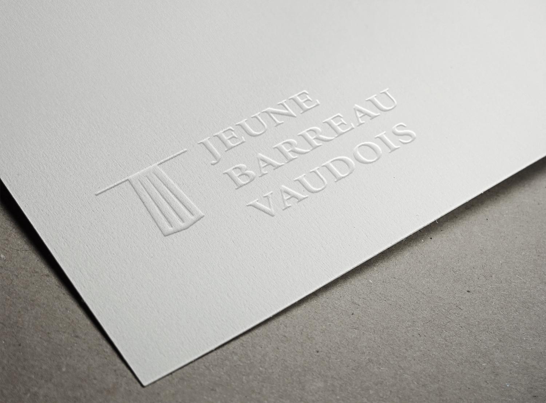 """New identity for Logo """"Le Jeune Barreau Vaudois"""". © fannyducommun"""