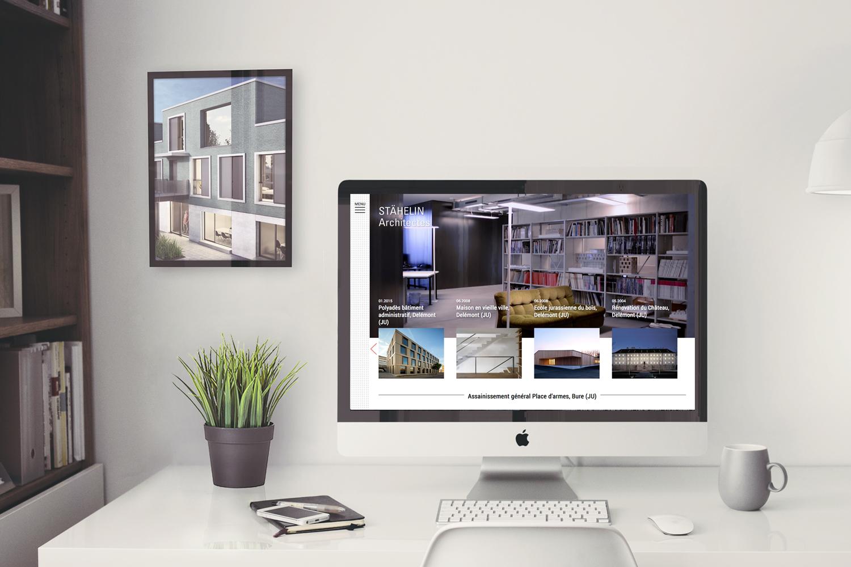 Concept, design et direction artistique du site internet staehelinarchitekten.ch @fannyducommun
