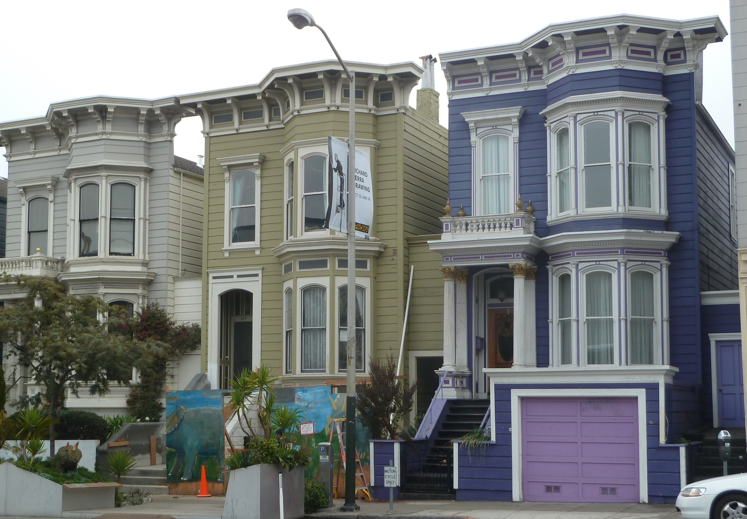 A row of 1880 Italianates built by TREA in the Mission.