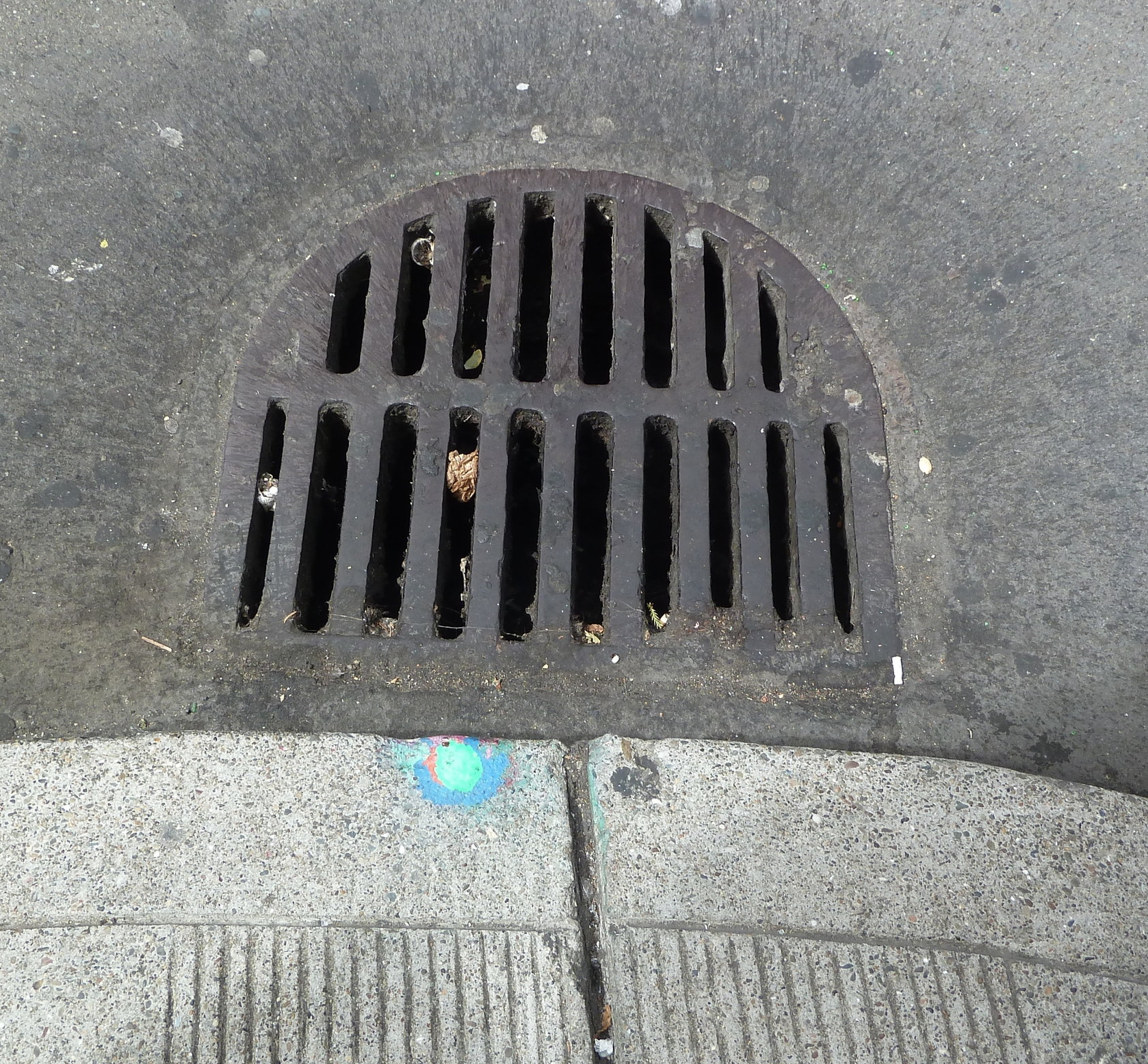 Sewer markings San Francisco