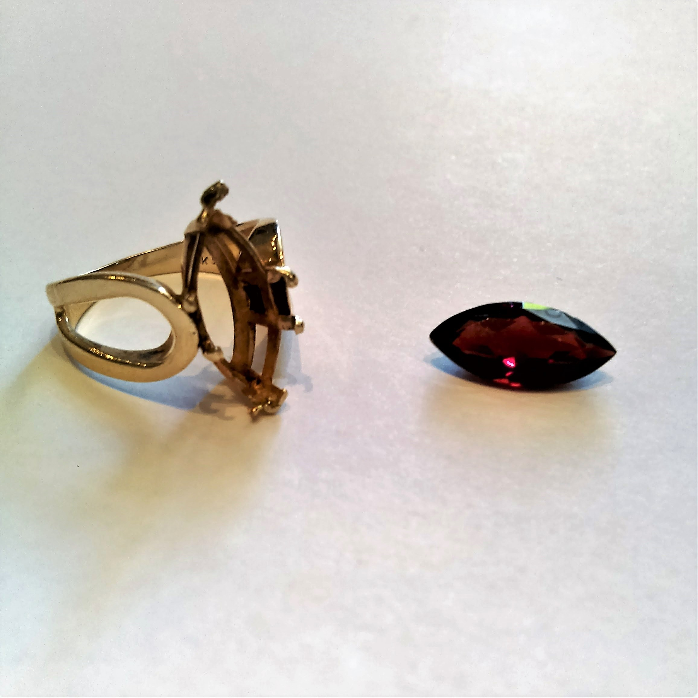 Garnet Ring BEFORE