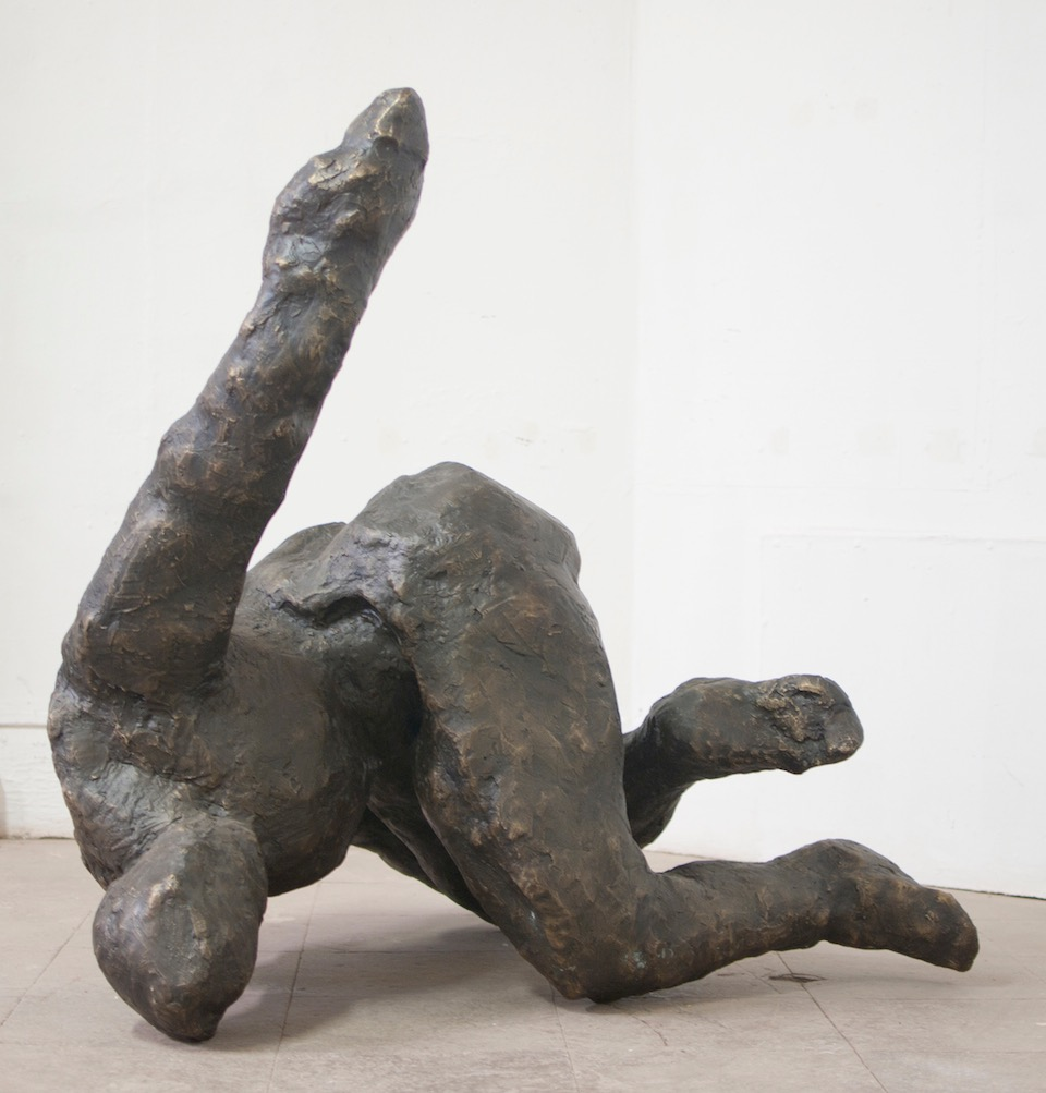 Adam, 2014. 53 x 60 x 50 inches, Bronze. AP, unique.