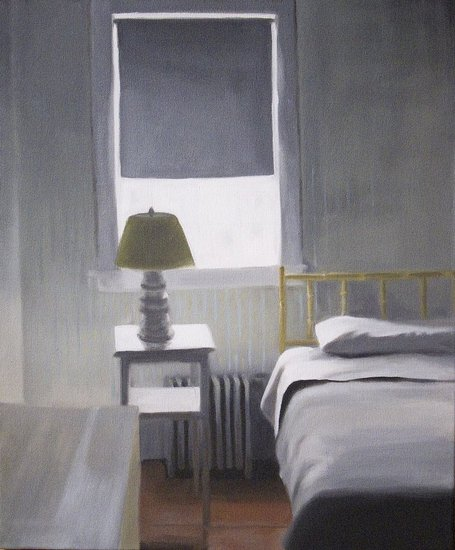 Upstairs. 20x16 inches, oil on canvas.  (sold)