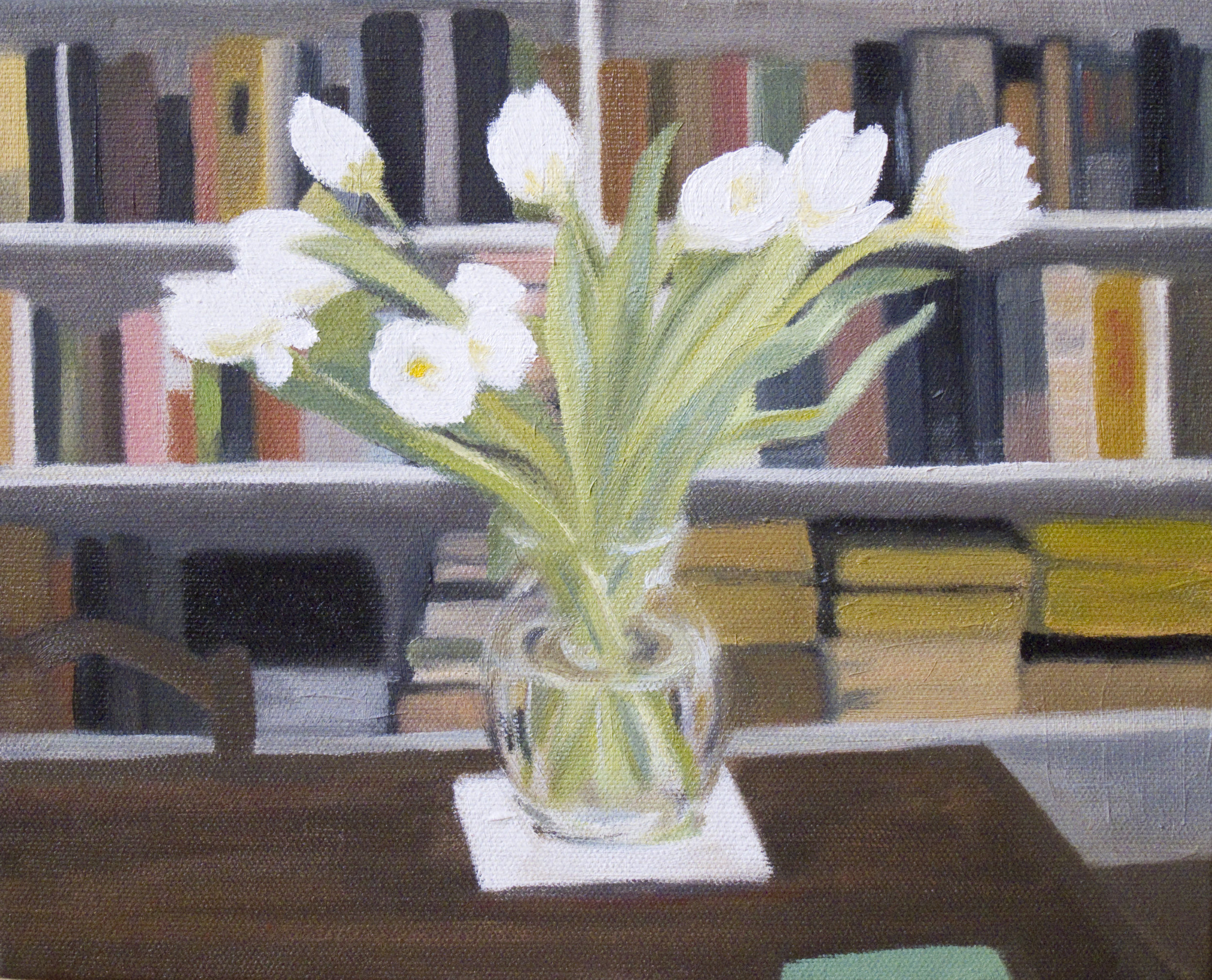 Tulips. 8x10 inches oil on canvas. (sold)