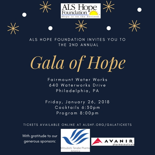 2nd Annual Gala of Hope Tickets — ALS Hope Foundation