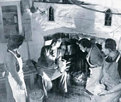 Bernard Leach and apprentices.