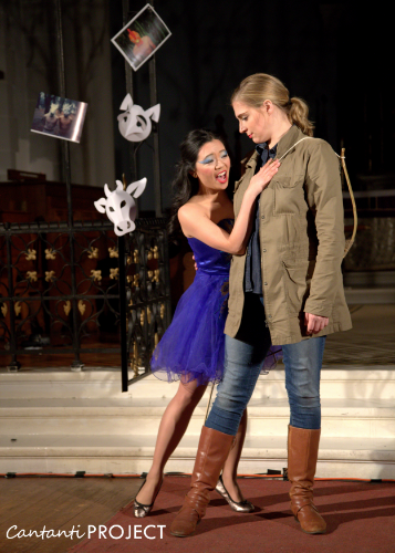 Joyce as morgana with tara Gruszkiewicz as bradamante. photo credit: samer ghanem.