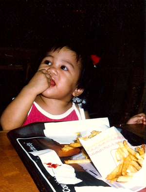 french fries and stuffing faces c. 1987