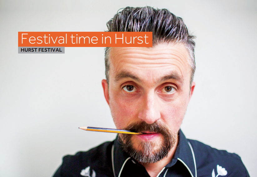 Picture of artist at Hurst Festival.