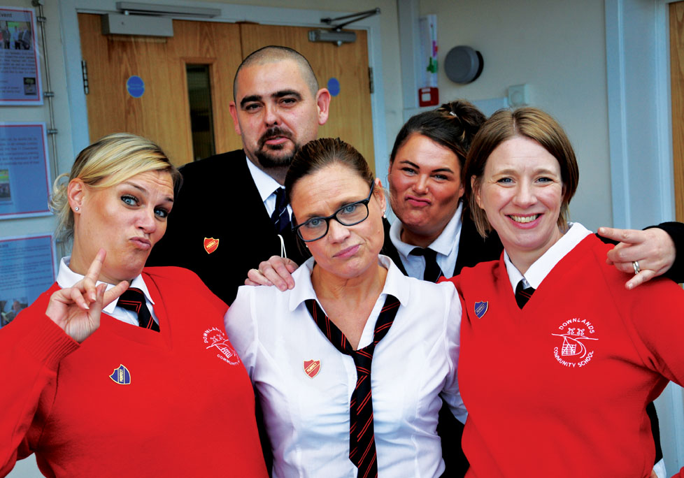 Satff at Downlands School get into the fundraising spirit for Children in Need 2015
