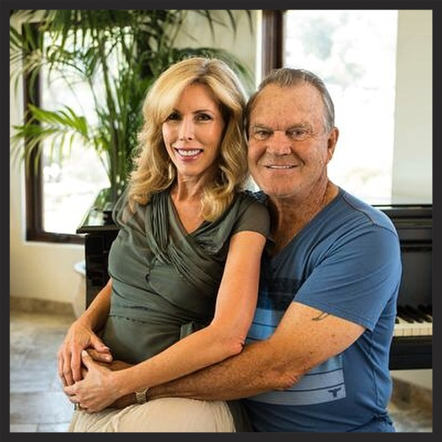 Kim and Glen Campbell in their Malibu home.