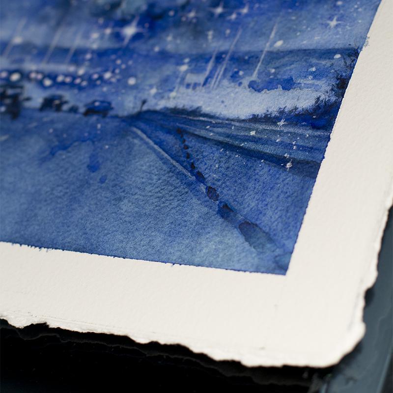 Blue Orchids Detail 4 - Dina Blokhina