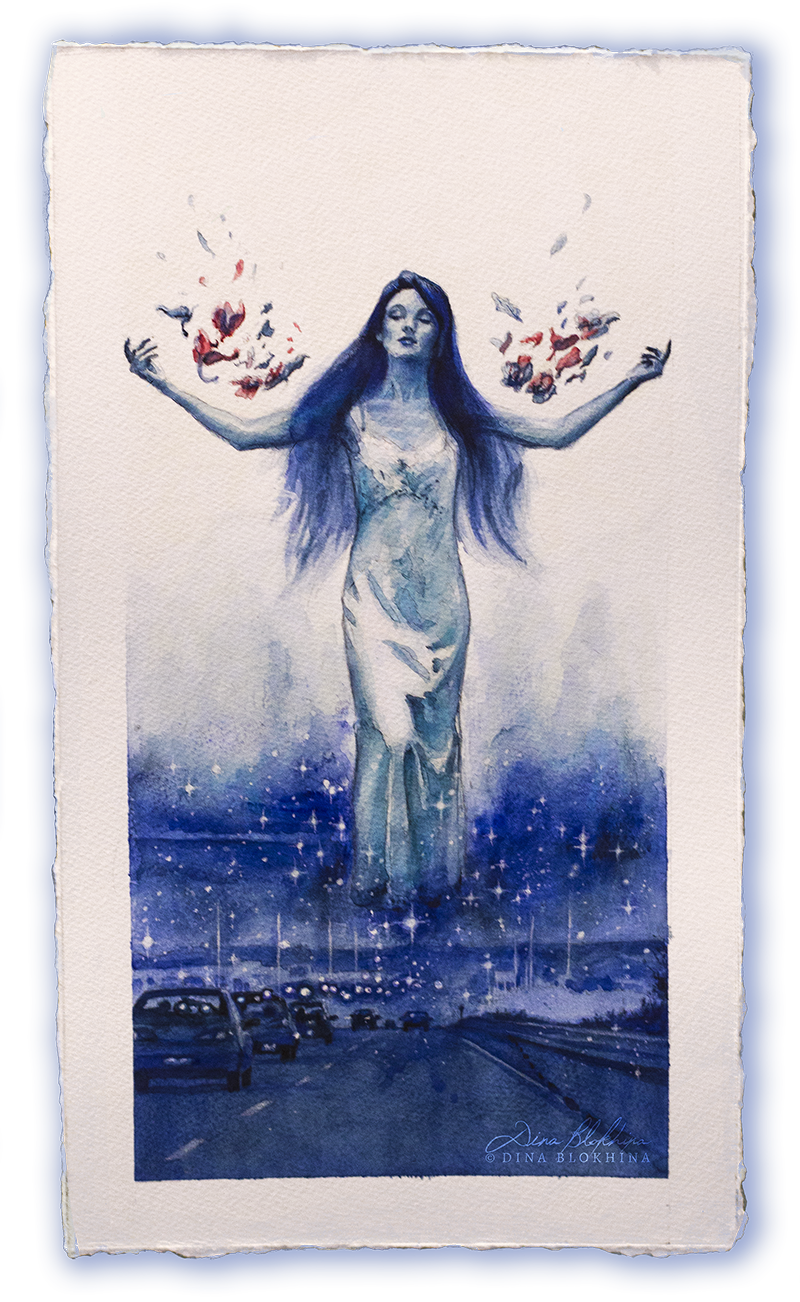 Blue Orchids - Dina Blokhina