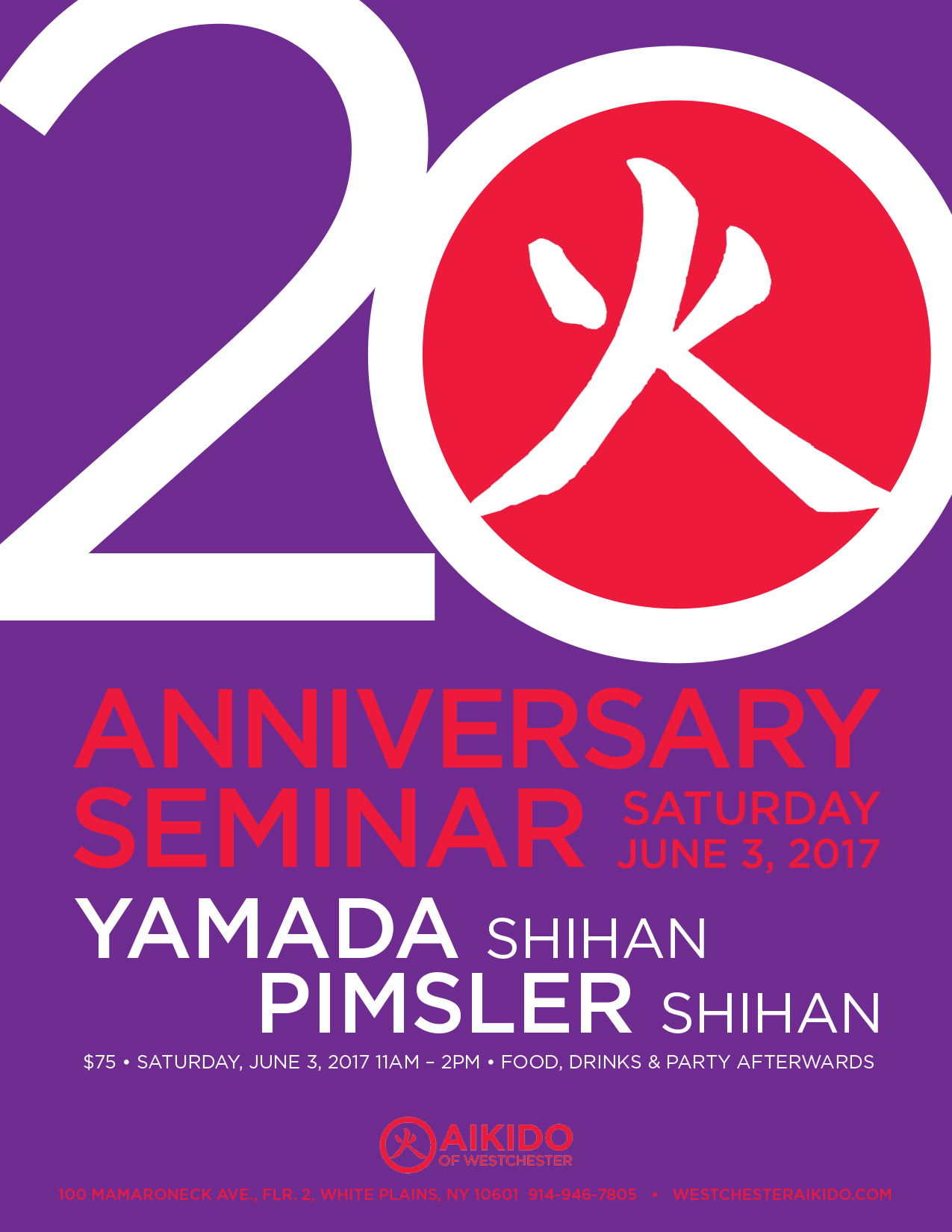Aikido Of Westchester 20th Anniversary Seminar