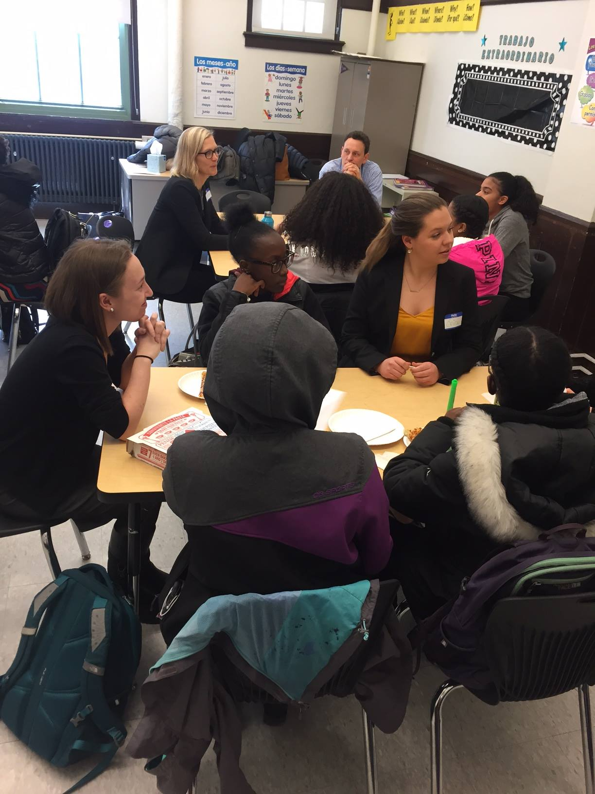 IIG Role Models meeting with Students at Fenway High School in Boston.