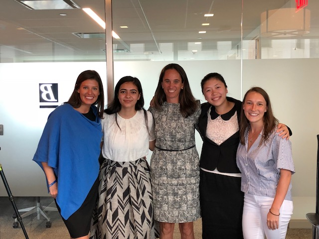 Brown Advisory Fellows from the Invest In Girls New York City Region after their final presentation at the Brown Advisory New York City offices with IIG founder Dune Thorne and Brown Advisory staff.
