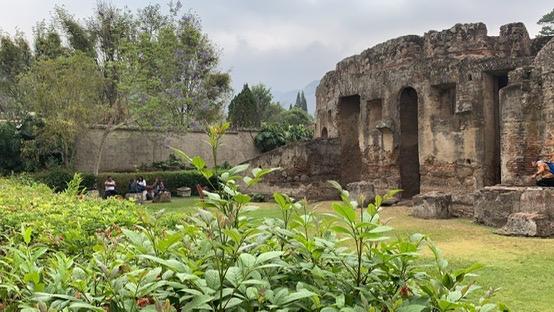 Outside courtyard of Capuchinas